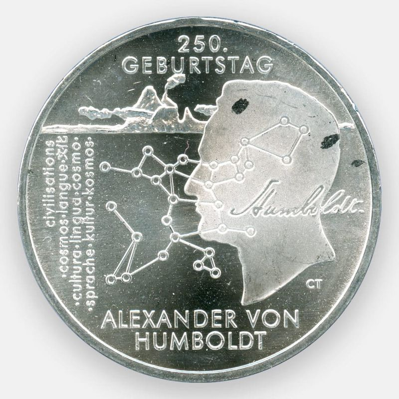 Александр фон Гумбольдт 20 евро 2019 Германия (Серебро 0,925 18,00 гр)