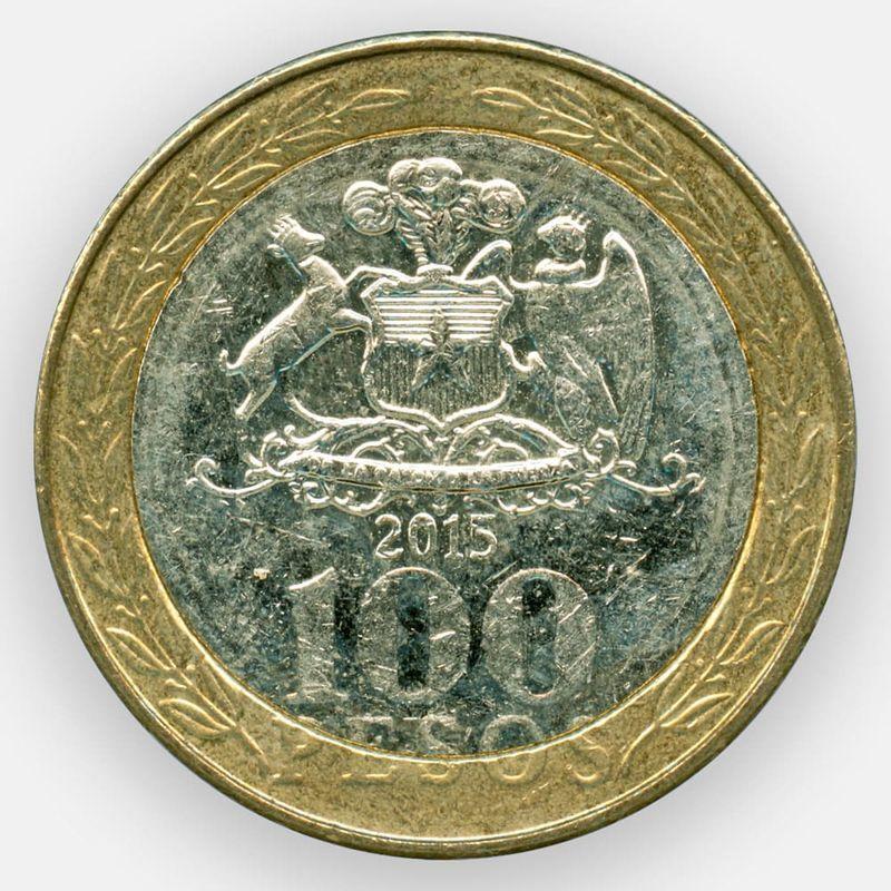 100 песо 2001-2017 Чили (сост. Very Fine)
