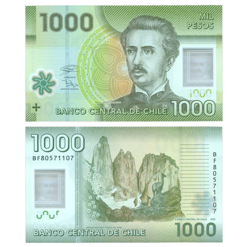 Банкнота 1000 песо 2018 Чили (сост. UNC)