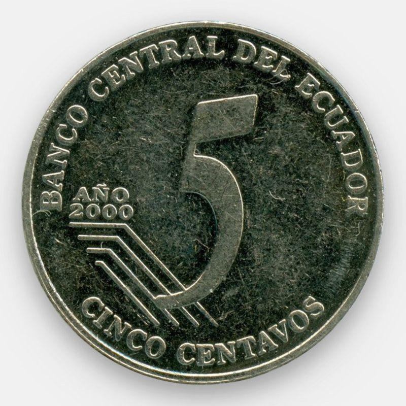5 сентаво 2000-2003 Эквадор (сост. Very Fine)