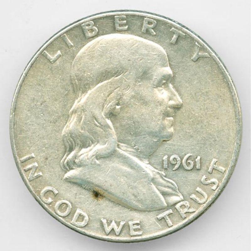 50 центов 1961 D США Серебро 0,900 12,5 гр