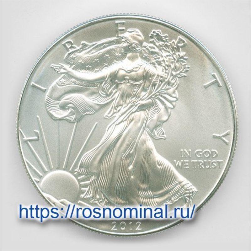 Шагающая Свобода 1 доллар 2012 США Серебро 0,999 1 oz