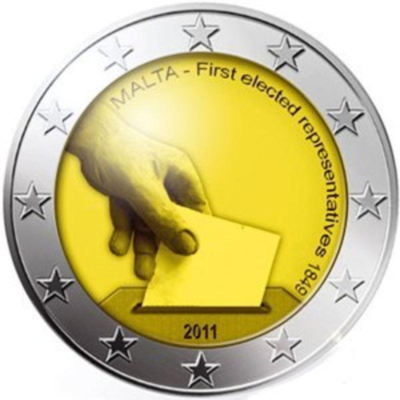 Первые избранные представители совета Мальты 1849 года Мальта 2 евро 2011